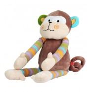 Maskotka z grzechotką 0m+ BabyOno 1273 Małpka 60 cm