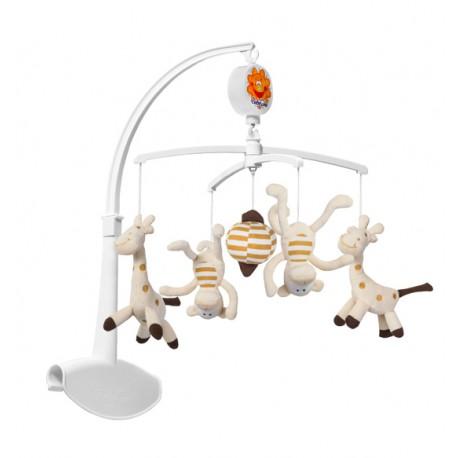 Karuzelka z uniwersalnym uchwytem BabyOno 1367 Żyrafy i Małpki