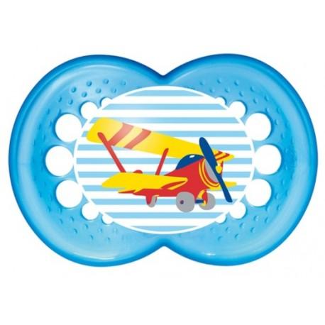 Smoczek 16m MAM Original blue plane