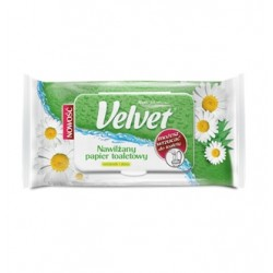 Papier nawilżany Velvet rumianek i aloes - 42 listki
