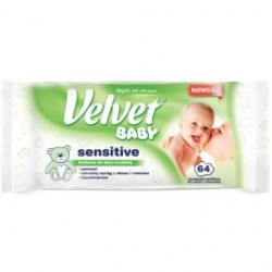 Chusteczki nawilżane Velvet Baby Sensitive - 64 szt