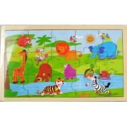Puzzle Drewniane Dzikie Zwierzęta 12+ Playme