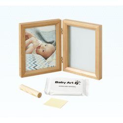 My Baby Touch Wooden Frame Baby Art - Honey