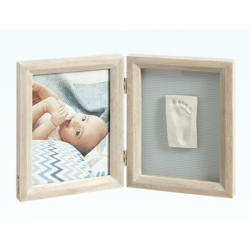 My Baby Touch Wooden Frame Baby Art - Stormy