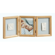 My Baby Touch Wooden Double Frame - Honey