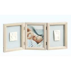 My Baby Touch Wooden Double Frame Baby Art - Stormy