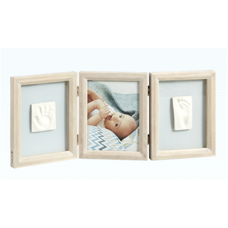 My Baby Touch Wooden Double Frame - Stormy