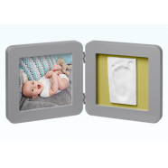 My Baby Touch Rounded Frame Baby Art - Grey