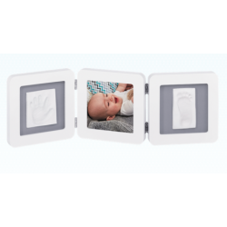 My baby Touch Rounded Double Frame - White