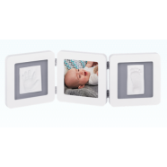 My baby Touch Rounded Double Frame Baby Art - White