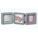 My Baby Touch Rounded Double Frame Baby Art - Grey