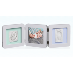 My Baby Touch Rounded Double Frame Baby Art - Pastel
