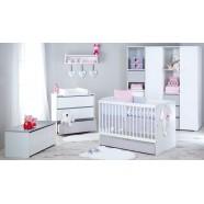 Zestaw mebli Klupś Dalia grey łóżko z pojemnikiem 120x60 cm
